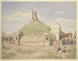 Buddhist temple, Patan (Nepal). January 1855
